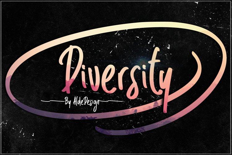 Diversity - WEB FONT example image 1