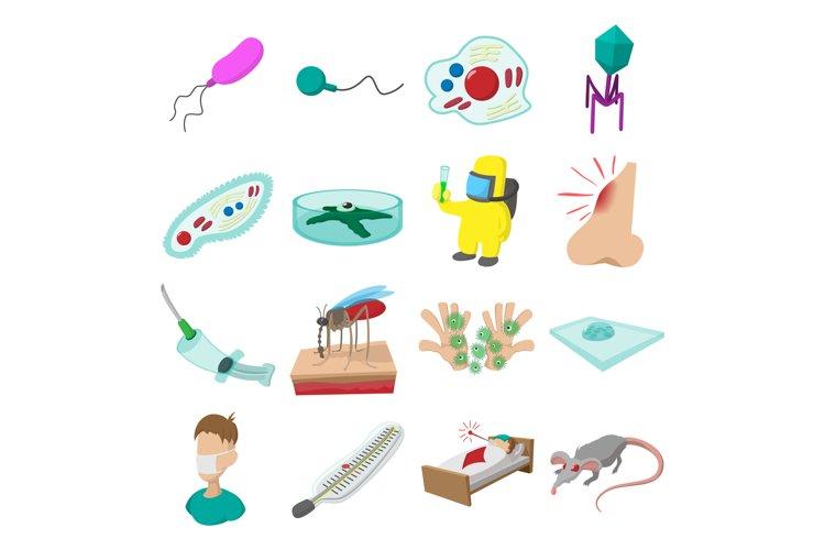 Virus cartoon icons set example image 1