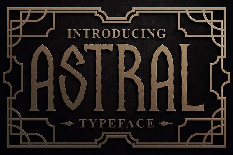 Astral Display Font example image 1