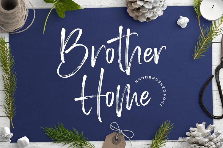 Brother Home Brush Font example image 1