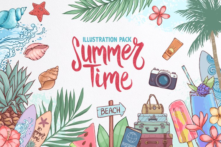 Summer time. Illustration pack.