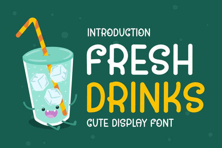 Fresh Drinks - Cute Display Font example image 1