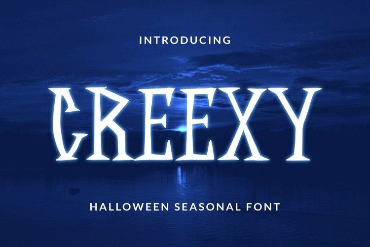 Web Font CREEXY Font example image 1