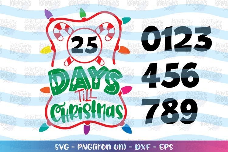 Christmas svg Christmas countdown with Numbers example image 1