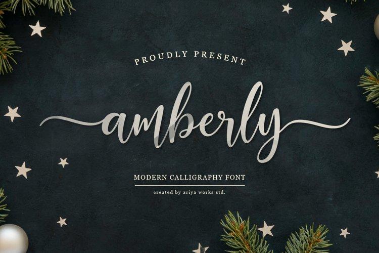 Amberly | Modern Calligraphy example image 1