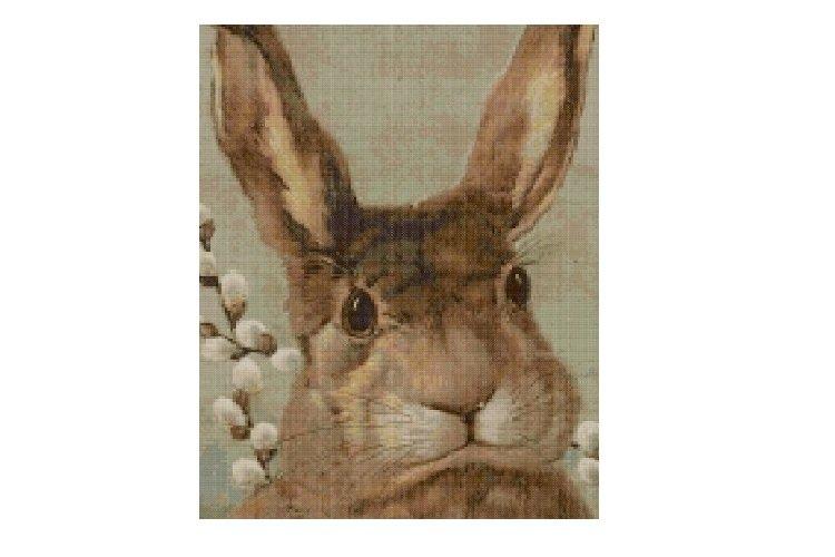 Vintage Bunny Cross Stitch Pattern example image 1