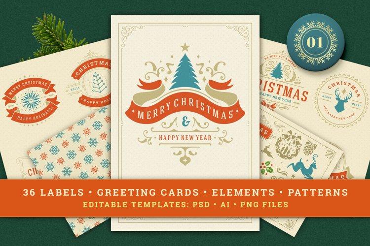 Christmas Retro Design Bundle example image 1