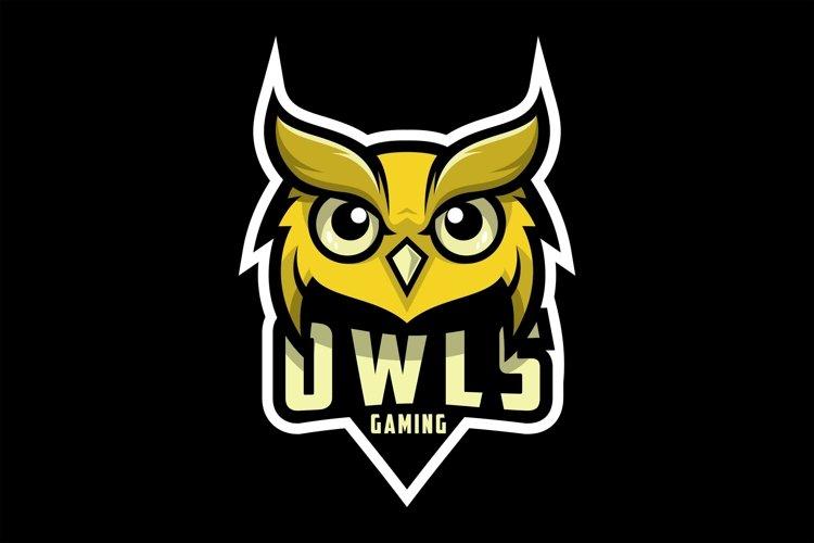 owl gaming logo design vector example image 1