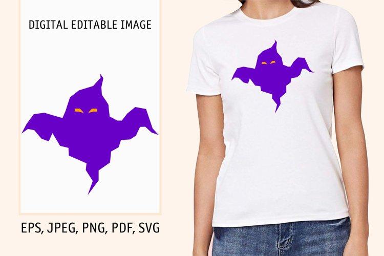 Cartoon ghost print. Digital editable pattern. example image 1