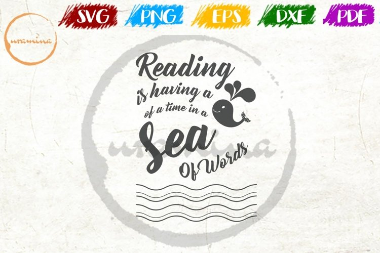 Reading Time Home Office Sign SVG Cut Filé - PDF - PNG - DXF example image 1