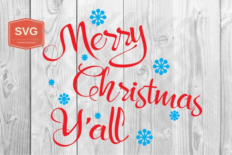 Merry Christmas Y'all Xmas printing files PNG example image 1