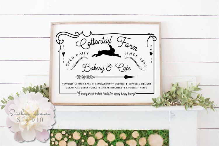 COTTONTAIL FARM BAKERY & CAFE - EASTER SVG, PNG, DXF and EPS