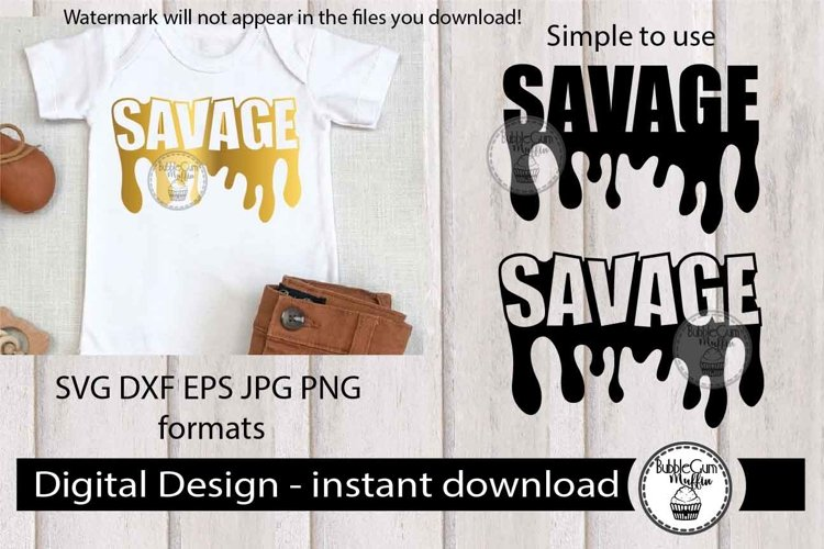 Savage Dripping Text svg 80 example image 1