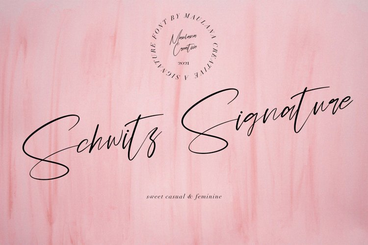 Schwitz Signature Sweet Casual Script Font example image 1