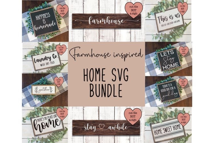 Home bundle, SVG bundle, farmhouse inspired svg