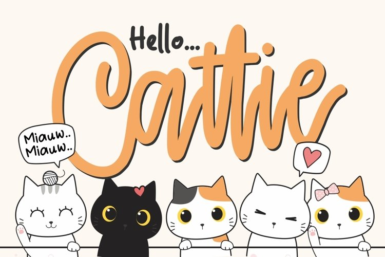 Cattie - Crafty Font example image 1