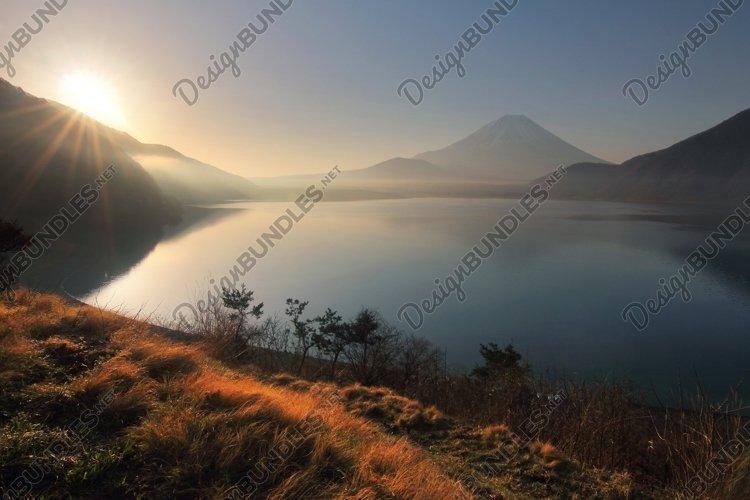 Fuji mountain at Motosu lake example image 1