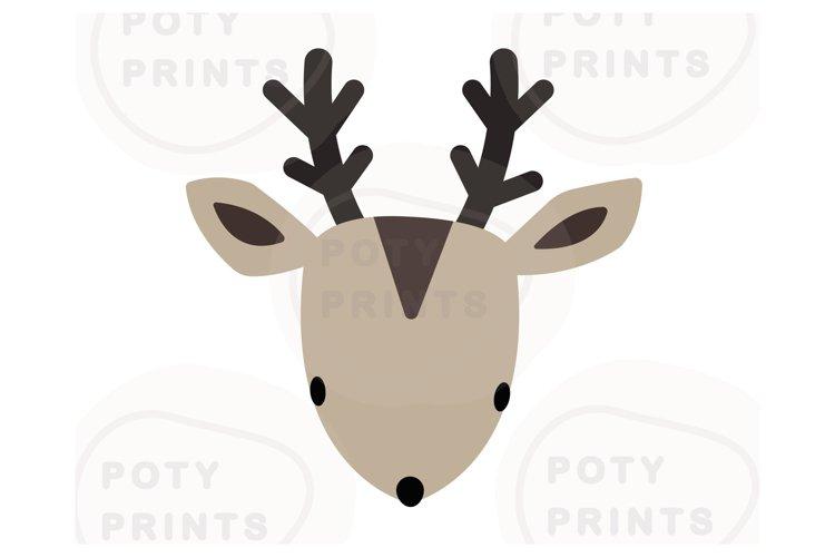 Christmas deer face svg file