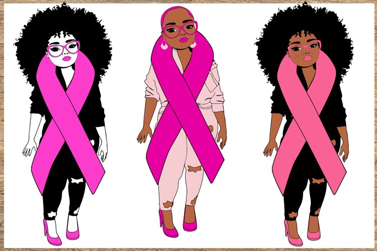 Breast cancer Bundle SVG 3 Designs Cancer awareness SVG example image 1