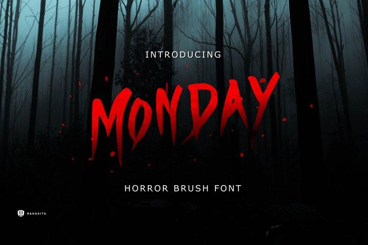 Monday - Horror Brush Font