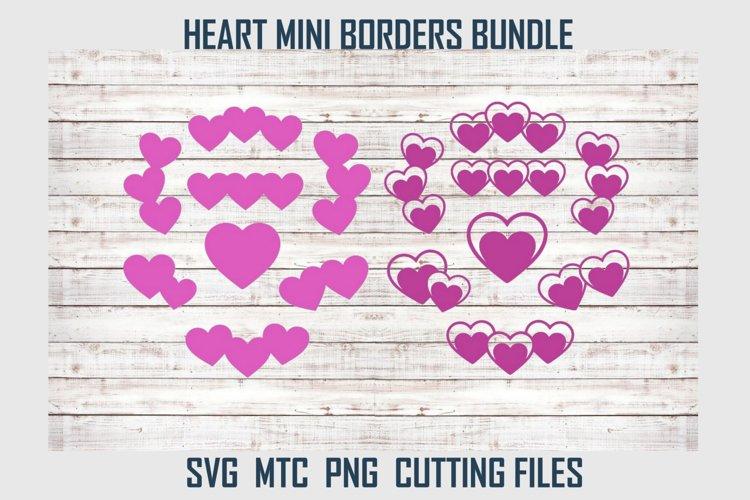 Mini Hearts Borders Love Valentine Bundle SVG Cut File example image 1