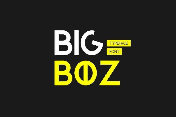 Web Font Bigboz Typeface Font example image 1