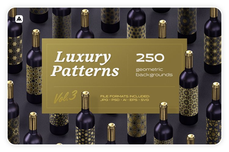 Luxury patterns - 250 geometric backgrounds collection example image 1
