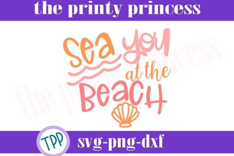 Sea You svg, Beach svg design file, beach Svg example image 1