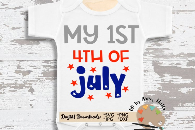 Cute baby My 1st 4th of July svg, July 4th firecracker svg example image 1
