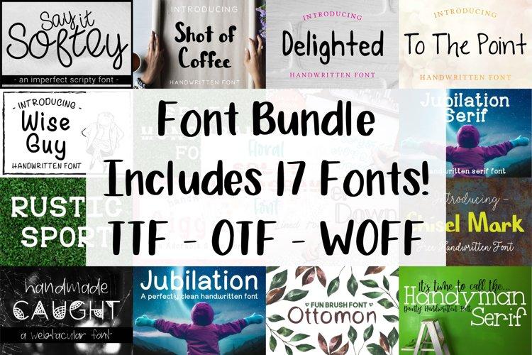 Font Bundle - Set of 17 Fonts - Lettering Typography
