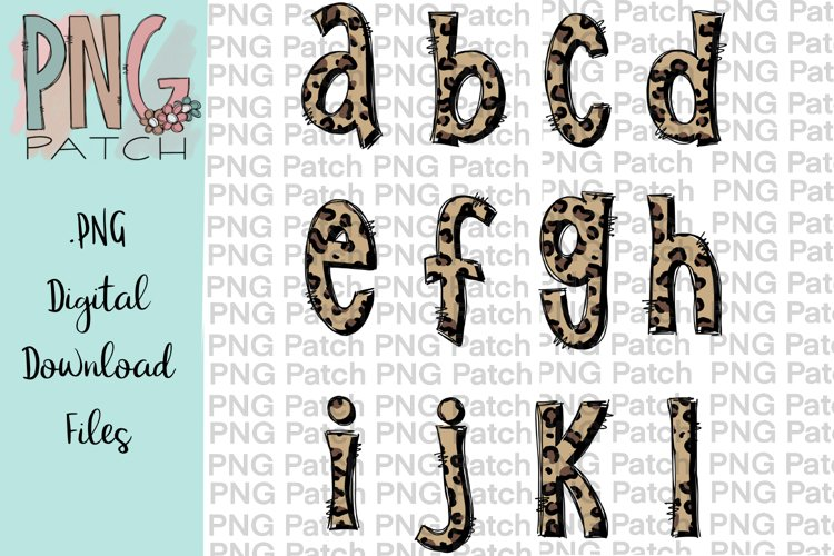 All Lower Case Leopard Print Alpha Pack, Alphabet Pack PNG