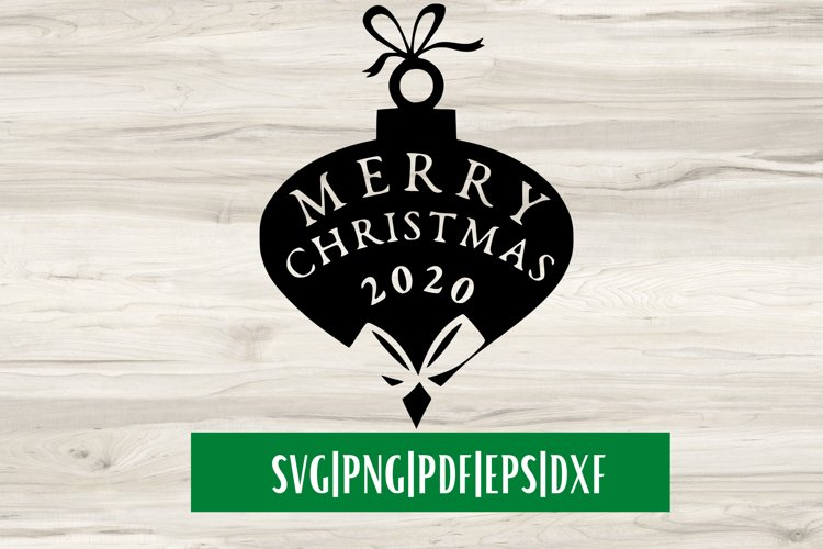 Merry Christmas 2020 SVG| Christmas SVG example image 1