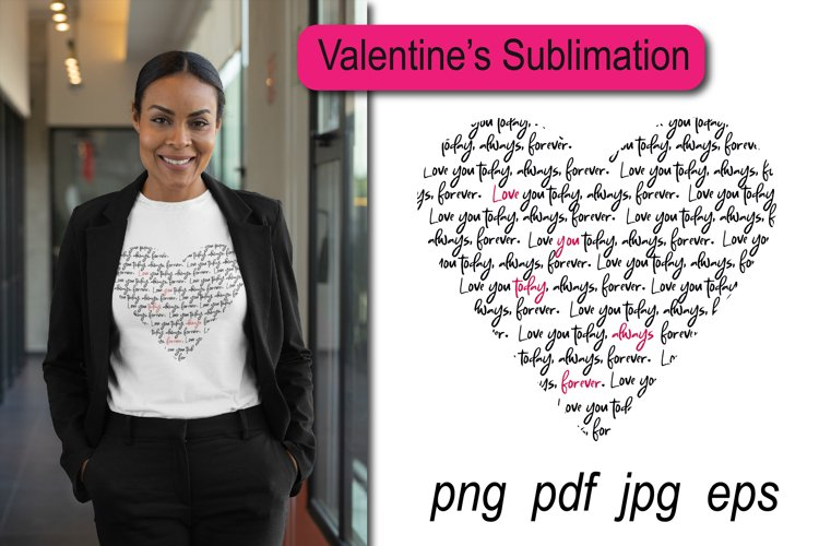 Heart Sublimation. Gift for mom. Quote about Love
