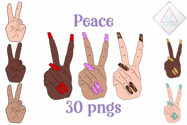 Peace Signs Clipart example image 1