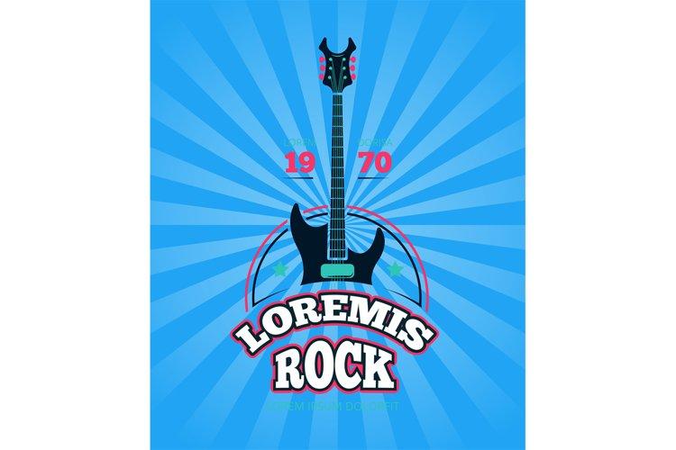 Rock music club, shop, sound record studio vector logo, badg example image 1