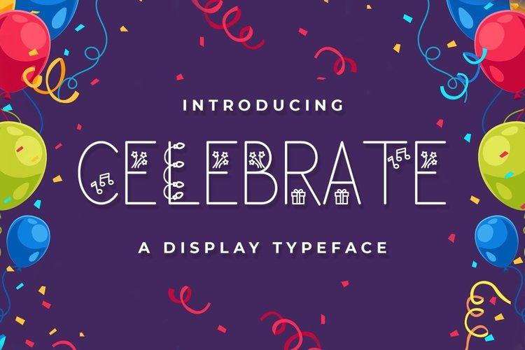 Web Font Celebrate example image 1