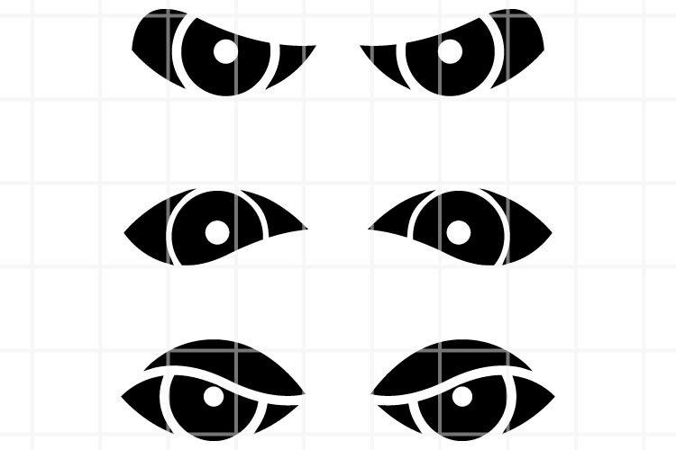 Eye SVG. Eye cut file. Eye cutting set. loo. look cut file.