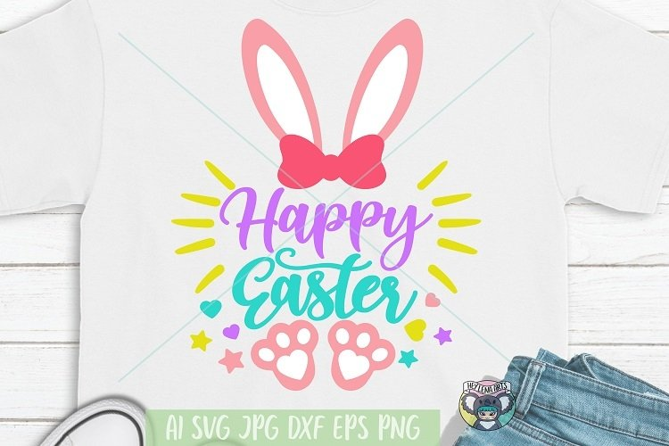 Happy Easter svg, Easter Bunny svg, Cricut Cut Files, dxf