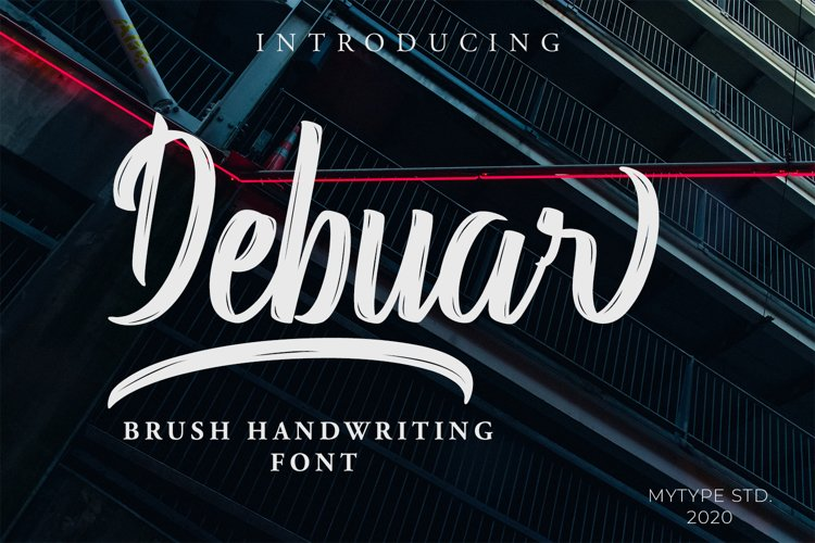 Debuar - Brush Font example image 1