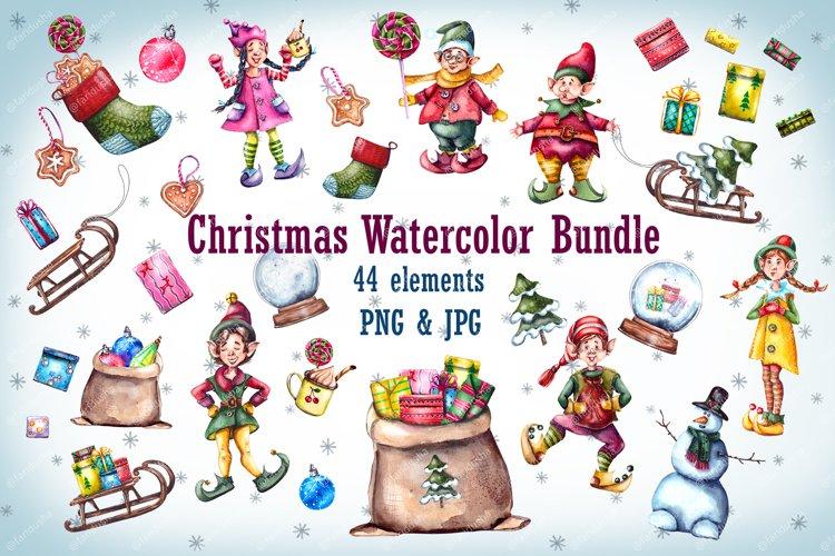 ChristmasElfGnomesSnowmanSantaSleighSantaSack example image 1