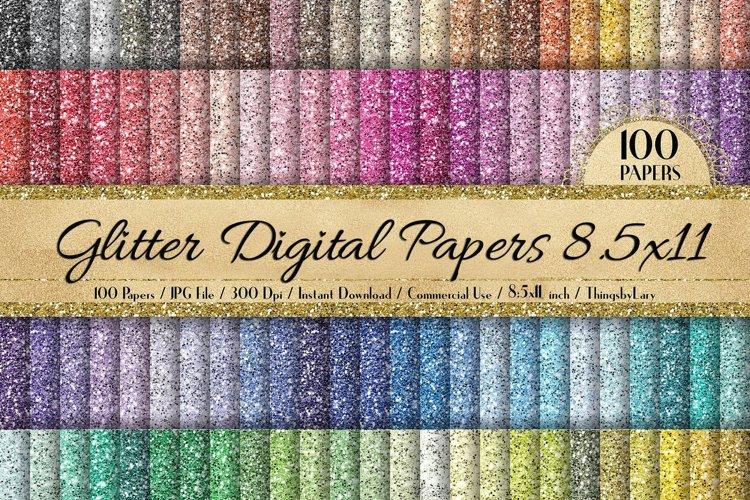 100 Glitter Texture Digital Papers 8.5x11