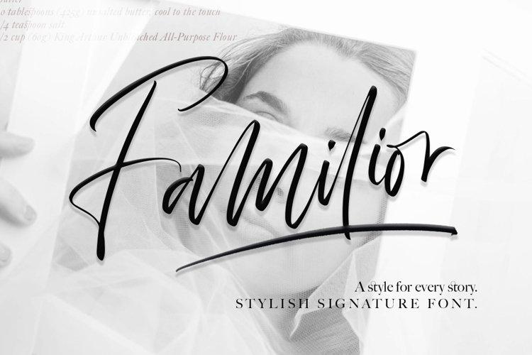 Familior - Signature Font