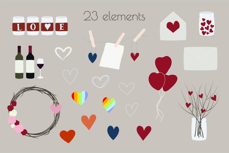 Valentines Day SVG, Valentine SVG, Love Heart SVG, LGBT example image 1
