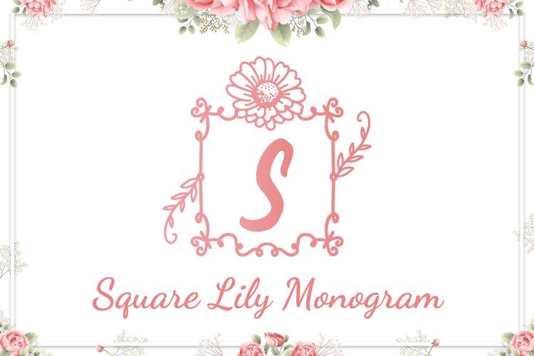 Square Lily Monogram