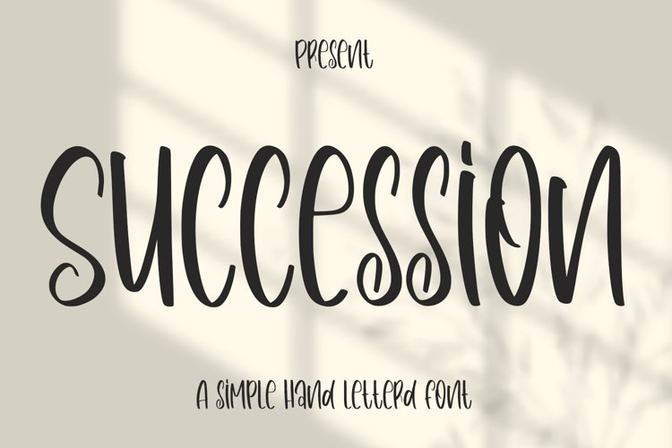 Succession - Simple Handletterd Font example image 1