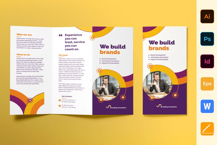 Branding Consultant Brochure Trifold example image 1