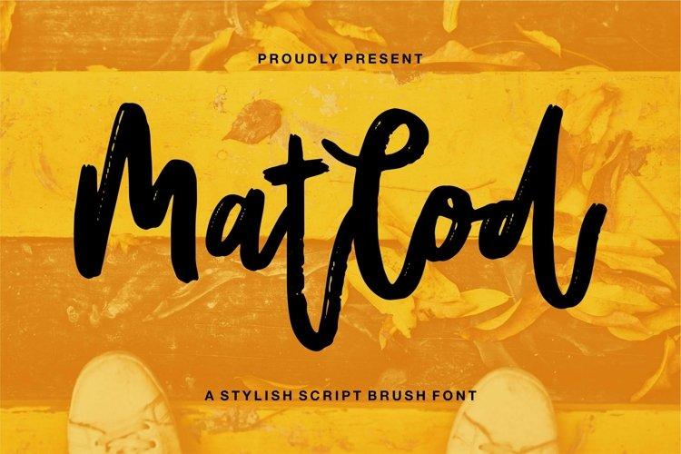 Web Font Matlod - A Stylish Script Brush Font example image 1