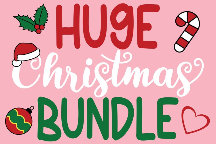 HUGE CHRISTMAS BUNDLE SVG Print SVG Cutting Crafters Cricut example image 1