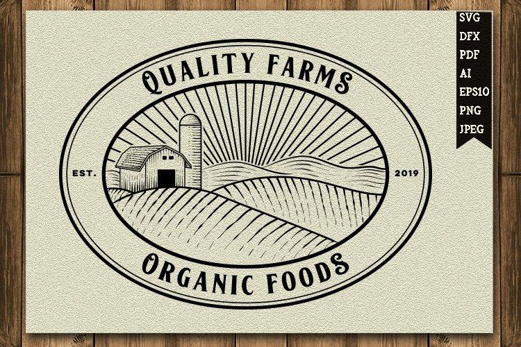 vintage farm logo design example image 1