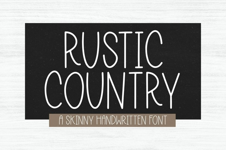 Web Font Rustic Country - A Handwritten Font example image 1